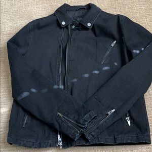 Black denim Zara jacket size M